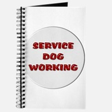 SERVICE DOG WORKING WHITE Journal