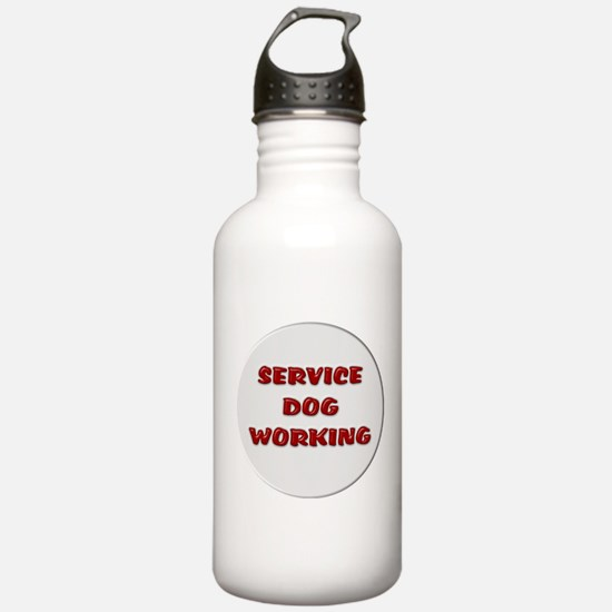SERVICE DOG WORKING WHITE Water Bottle