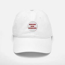 SERVICE DOG WORKING WHITE Baseball Baseball Baseball Cap