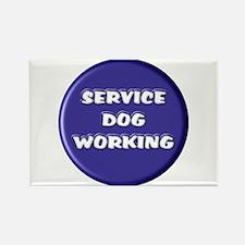 SERVICE DOG WORKING BLUE Magnets