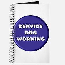 SERVICE DOG WORKING BLUE Journal