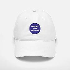 SERVICE DOG WORKING BLUE Baseball Baseball Baseball Cap