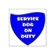 SERVICE DOG ON DUTY BLUE Sticker
