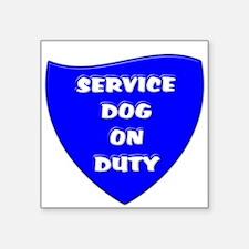 SERVICE DOG ON DUTY BLUE Sticker