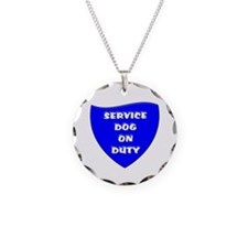 SERVICE DOG ON DUTY BLUE Necklace