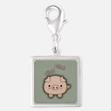 Cute Pink Pig Oink Charms