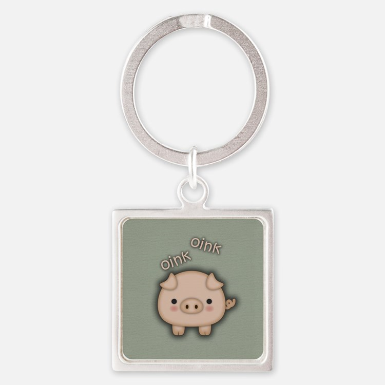 Cute Pink Pig Oink Keychains