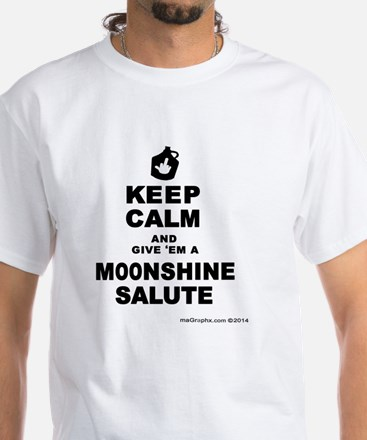 Moonshine Salute White T-Shirt