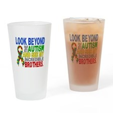Look Beyond 2 Autism Brothers Drinking Glass