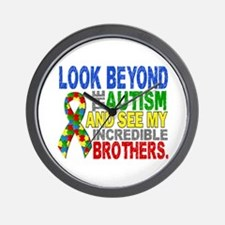 Look Beyond 2 Autism Brothers Wall Clock