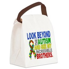 Look Beyond 2 Autism Brothers Canvas Lunch Bag