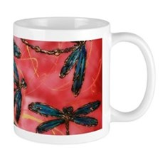 Dragonflies Tangerine Sky Mugs