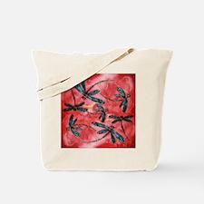 Dragonflies Tangerine Sky Tote Bag