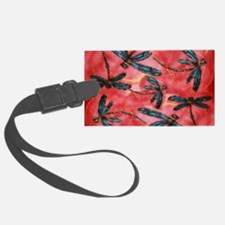 Dragonflies Tangerine Sky Luggage Tag