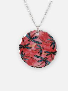 Dragonflies Tangerine Sky Necklace