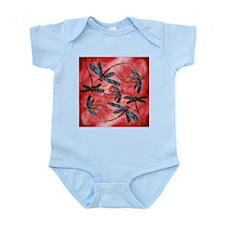 Dragonflies Tangerine Sky Body Suit