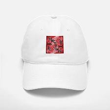Dragonflies Tangerine Sky Baseball Baseball Cap
