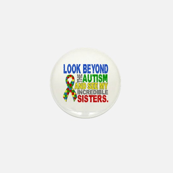 Look Beyond 2 Autism Sisters Mini Button