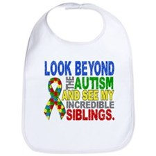 Look Beyond 2 Autism Siblings Bib