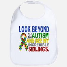 Look Beyond 2 Autism Siblings Bib