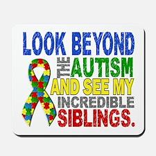 Look Beyond 2 Autism Siblings Mousepad