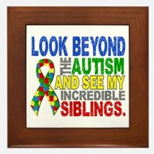 Look Beyond 2 Autism Siblings Framed Tile