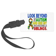 Look Beyond 2 Autism Siblings Luggage Tag