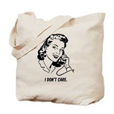 Retro I don't care Tote Bag