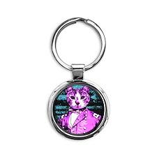 Capt. Meow Round Round Keychain