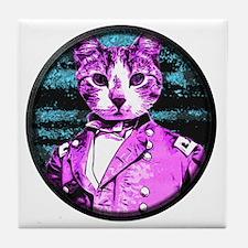 Capt. Meow Round Tile Coaster
