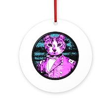 Capt. Meow Round Round Ornament