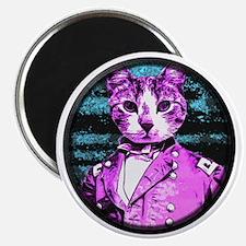 Capt. Meow Round Magnet