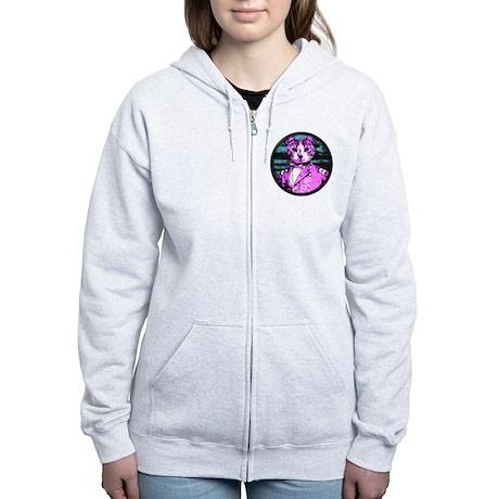 Capt. Meow Round Women's Zip Hoodie