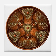 Celtic Shields - Copper Chieftain Tile Coaster