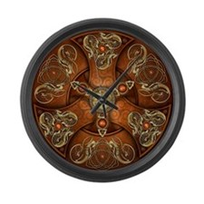 Celtic Shields - Copper Chieftain Large Wall Clock