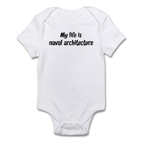 Life is naval architecture Infant Bodysuit