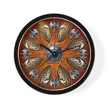 Norse Shield - Aegishjalmur Wall Clock
