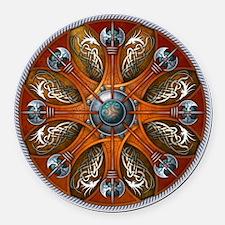 Norse Shield - Aegishjalmur Round Car Magnet