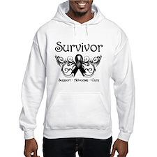 Survivor Melanoma Ribbon Hoodie