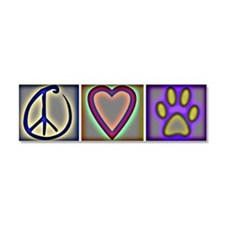 Cool Peace love dog Car Magnet 10 x 3