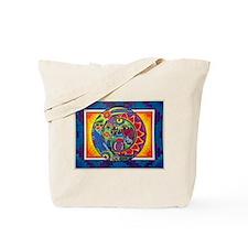 Aztec Sun and Moon Tote Bag