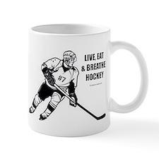 Live, Eat, Breathe Hockey Mugs
