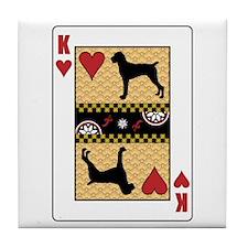 King Pointer Tile Coaster