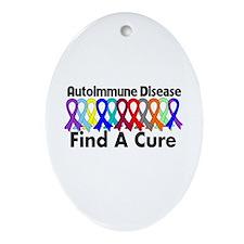 Autoimmune Disease Cure Ornament (Oval)