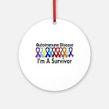 Autoimmune Disease Survivor Ornament (Round)