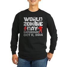World Zombie Day 2014 Dark Long Sleeve T-Shirt