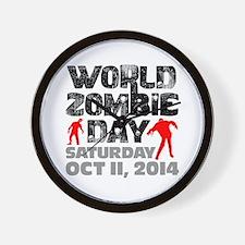 World Zombie Day 2014 Wall Clock