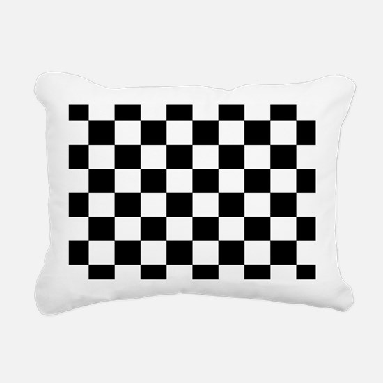 Black and White Checkerboard Rectangular Canvas Pi