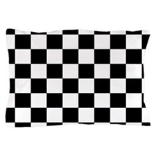Black and White Checkerboard Pillow Case