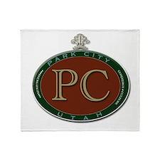 Park City Logo Medallion Throw Blanket